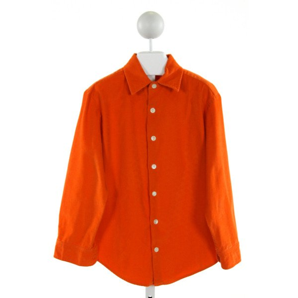 BEAUX ET BELLES  ORANGE CORDUROY   CLOTH LS SHIRT