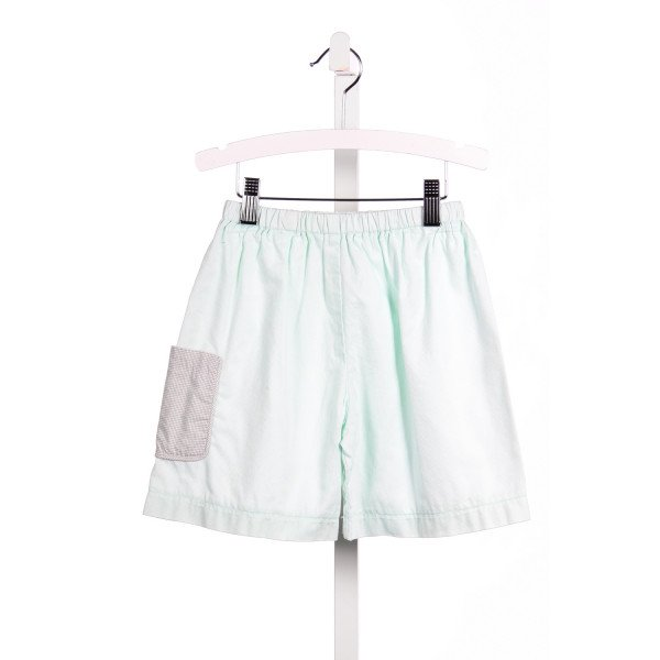 ALICE KATHLEEN MINT PIQUE SHORTS WITH KHAKI CHECK POCKET