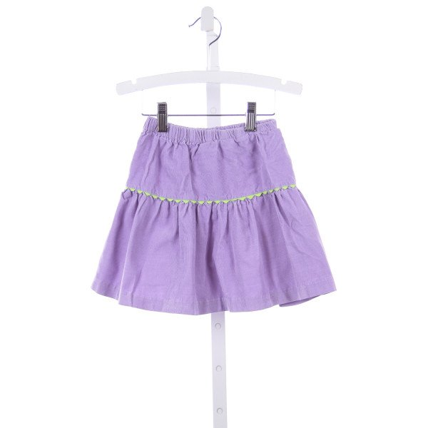 BLESSED BE THE NAME PURPLE CORDUROY RUFFLE SKIRT