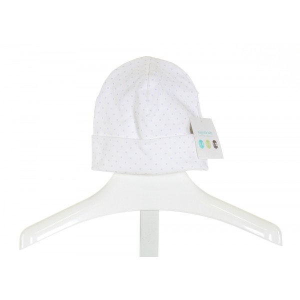 MAGNOLIA BABY  WHITE  POLKA DOT  ACCESSORIES - HEADWEAR