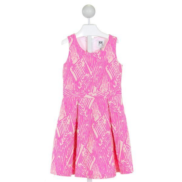 MILLY  HOT PINK   PRINTED DESIGN DRESS