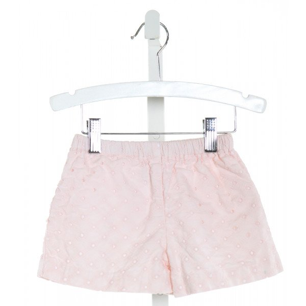 LOLLIPOP LAUNDRY  LT PINK   EMBROIDERED SHORTS WITH RUFFLE