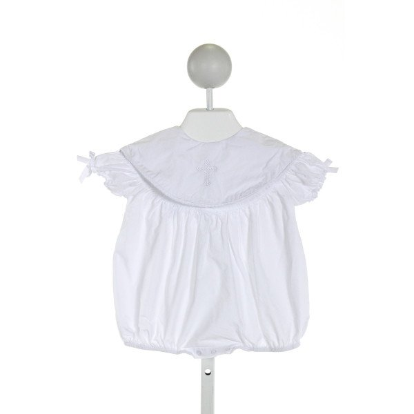 MUD PIE  WHITE   EMBROIDERED BUBBLE WITH RUFFLE