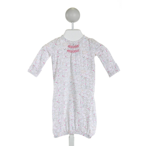 ANGEL DEAR  WHITE  PRINT SMOCKED LAYETTE