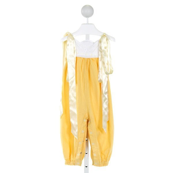 RABBIT LUCY KIDS  YELLOW   EMBROIDERED ROMPER (I)