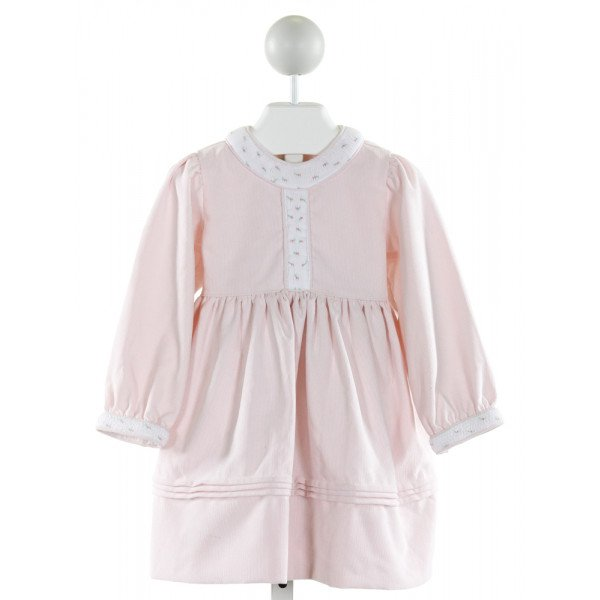 ALICE KATHLEEN  LT PINK CORDUROY  SMOCKED DRESS