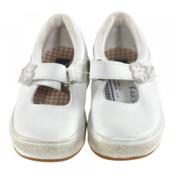 KEDS WHITE SHOES *SIZE TODDLER 5.5, VGU - MINOR DISCOLORATION