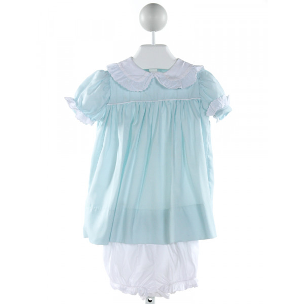 LITTLE LAUNDRY  AQUA    2-PIECE OUTFIT WITH RUFFLE