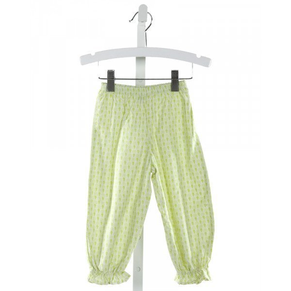 LOLLIPOP LAUNDRY  LT GREEN   PRINTED DESIGN PANTS WITH RUFFLE