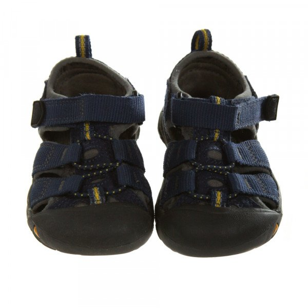 KEEN BLUE AND YELLOW SANDALS *SIZE TODDLER 6, VGU - VERY MINOR DISCOLORATION AND WEAR