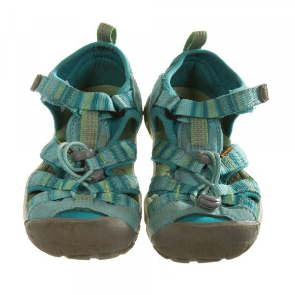 KEEN AQUA BLUE SANDALS *SIZE TODDLER 13, GUC - MINOR WEAR AND DISCOLORATION