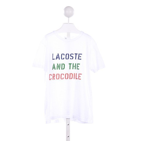 LACOSTE  WHITE    KNIT SS SHIRT
