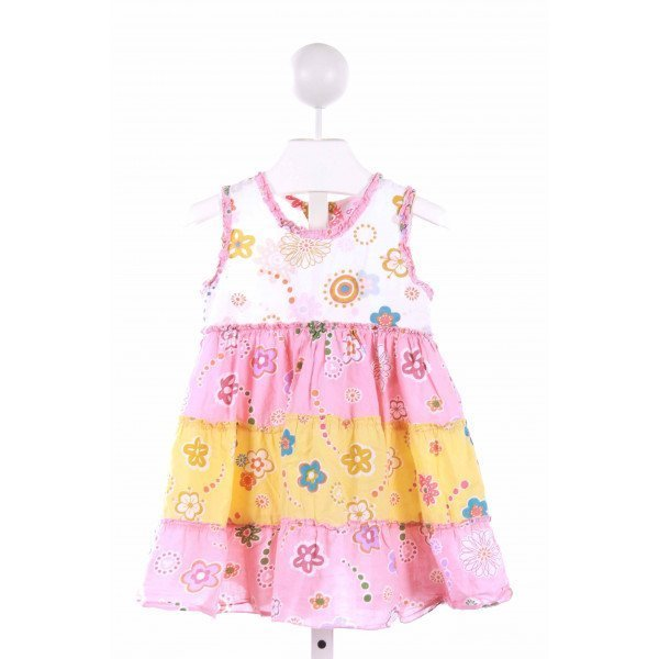 CR KIDS  MULTI-COLOR  FLORAL  CASUAL DRESS