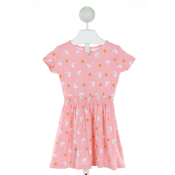 MATILDA JANE  PINK   PRINTED DESIGN KNIT DRESS