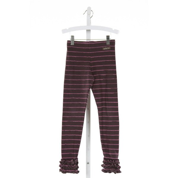 MATILDA JANE  PURPLE  STRIPED  PANTS WITH RUFFLE