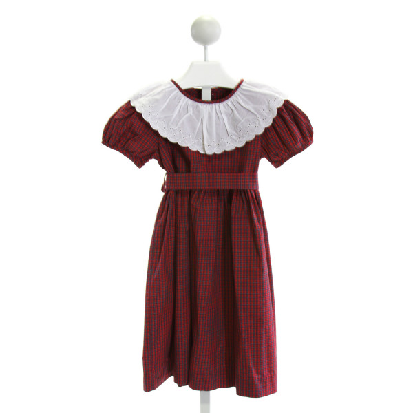 MARY & GRACE  RED  PLAID  DRESS