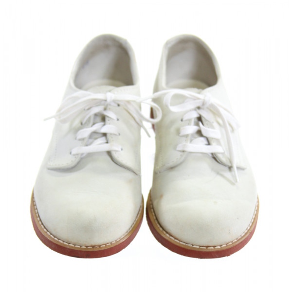 FOOTMATES IVORY LEATHER SHOES *SIZE 11.5, GUC - DISCOLORATION AND LIGHT SCUFFING