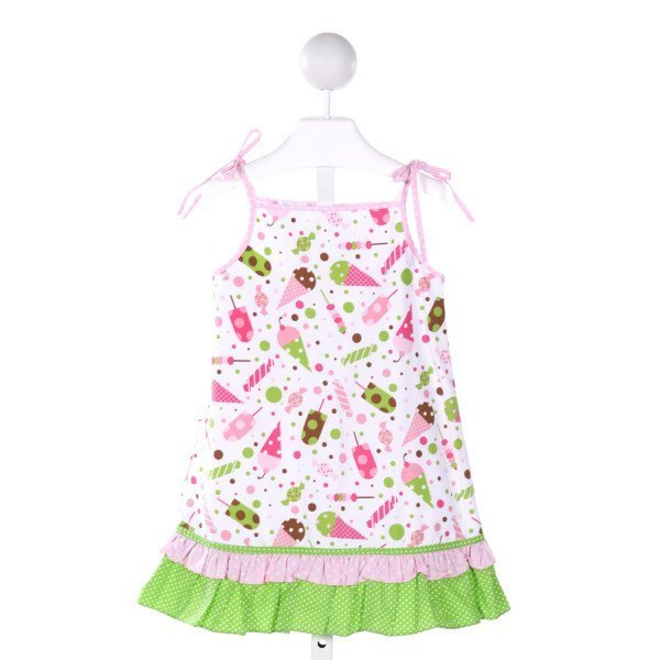 CUKEES  MULTI-COLOR  POLKA DOT PRINTED DESIGN DRESS WITH RUFFLE