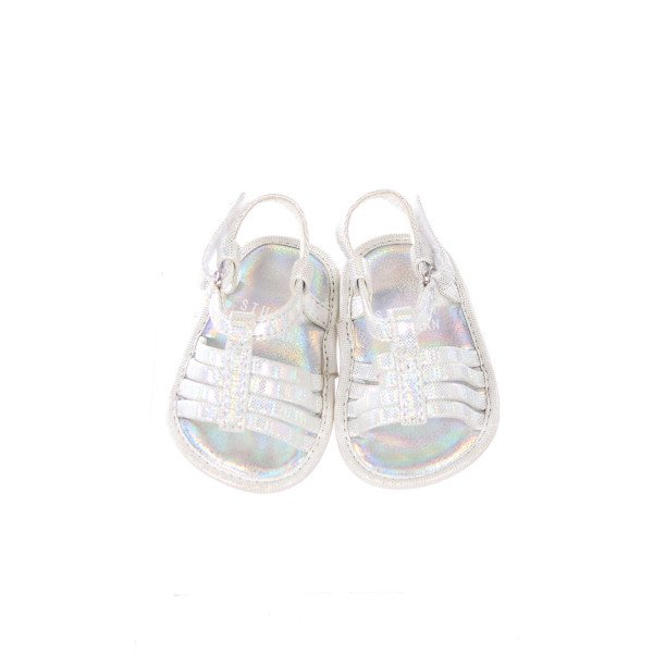STUART WEITZMAN SILVER SANDALS INFANT SIZE 2