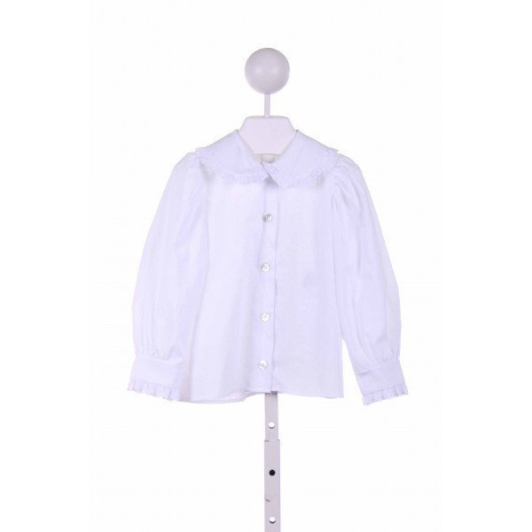 CHOCOLATE SOUP  WHITE    CLOTH LS SHIRT WITH EYELET TRIM
