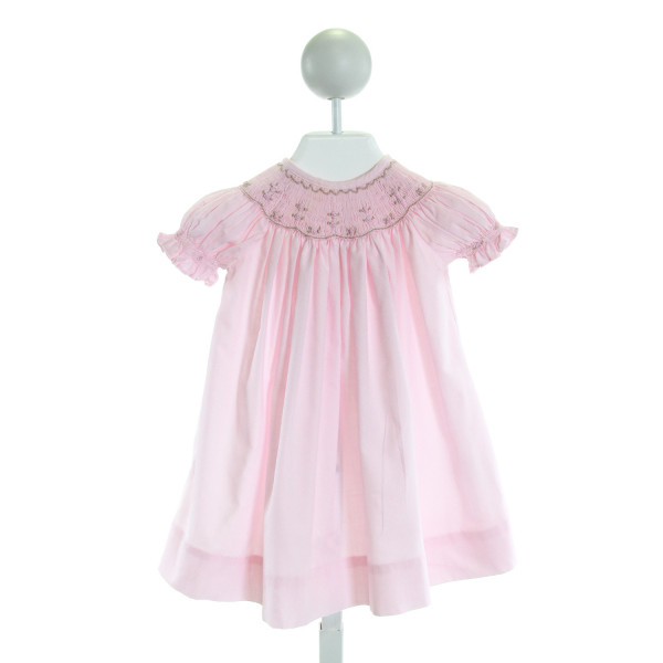ROYAL CHILD  PINK   SMOCKED DRESS WITH RUFFLE