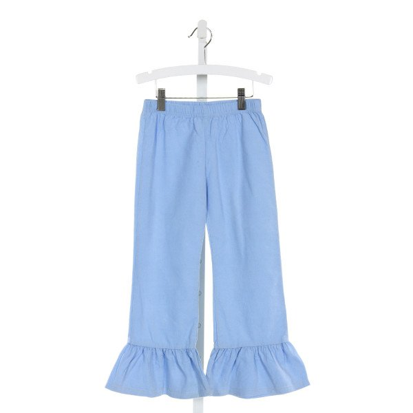 BLANKS BOUTIQUE  LT BLUE CORDUROY   PANTS WITH RUFFLE