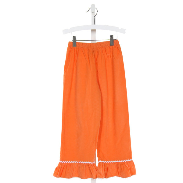 CASTLES & CROWNS  ORANGE CORDUROY   PANTS WITH RUFFLE