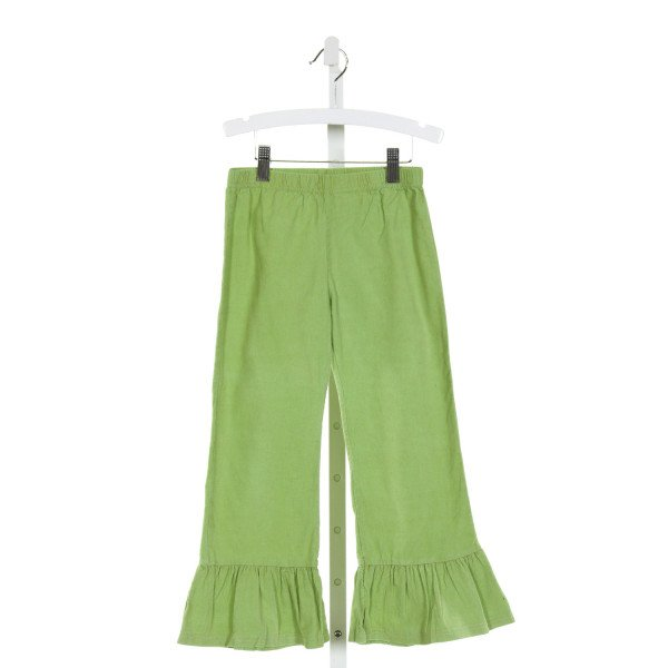 BLANKS BOUTIQUE  GREEN CORDUROY   PANTS WITH RUFFLE