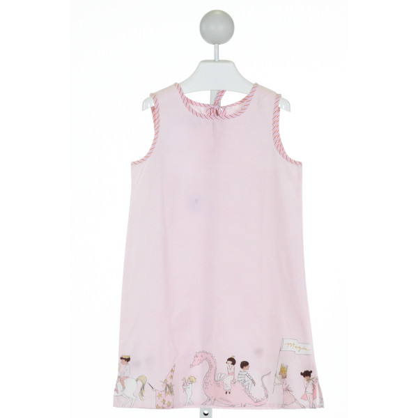 PETIT PEONY  LT PINK   PRINTED DESIGN DRESS
