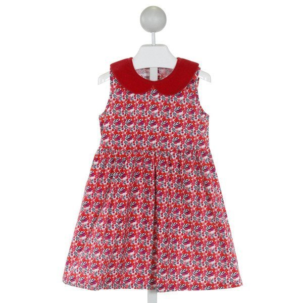 PETIT PEONY  RED  FLORAL  DRESS