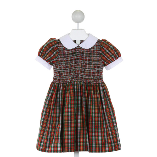 THE BEAUFORT BONNET COMPANY  RED  PLAID SMOCKED DRESS