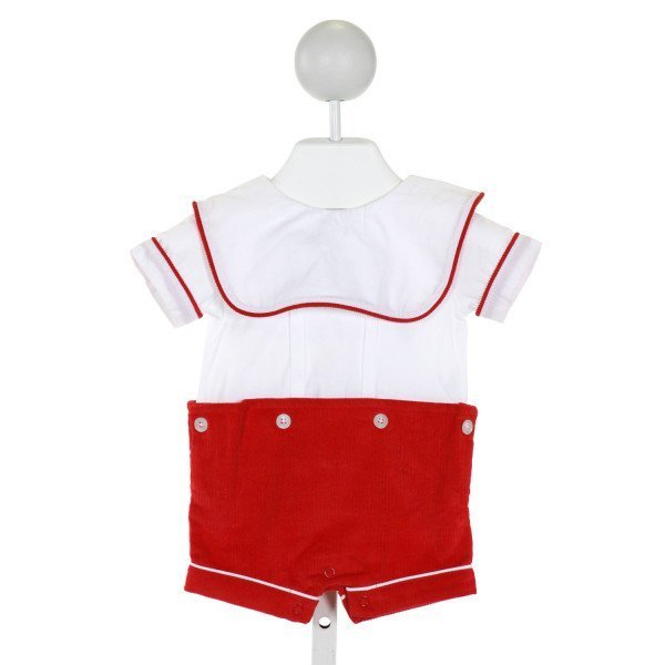 MUD PIE  WHITE CORDUROY   JOHN JOHN/ SHORTALL