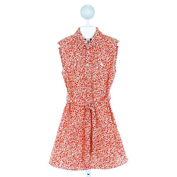 TOOBY DOO  RED   PRINTED DESIGN DRESS