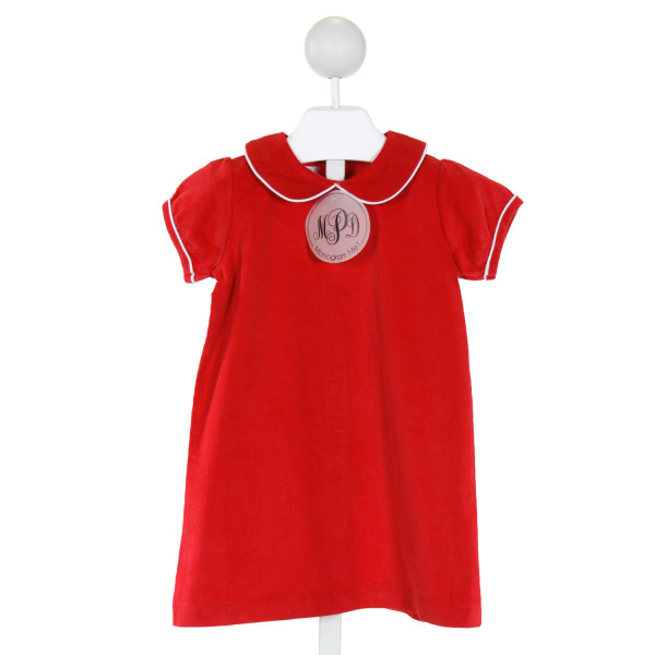 MUD PIE  RED CORDUROY   DRESS