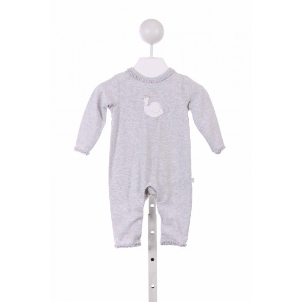 ALBETTA  GRAY KNIT  EMBROIDERED LAYETTE