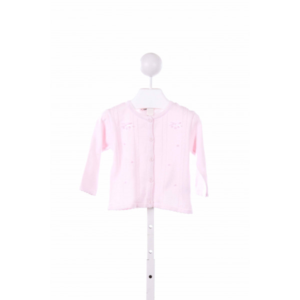 FELTMAN BROTHERS  LT PINK   EMBROIDERED CARDIGAN