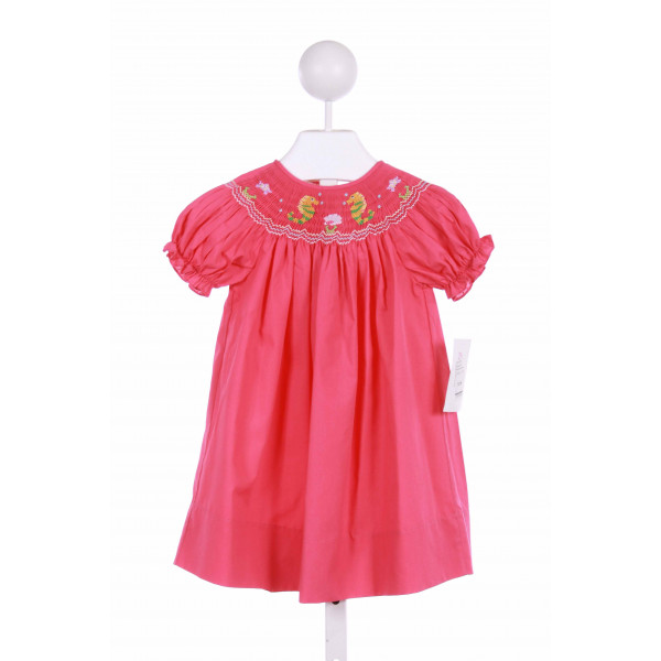 ROSALINA  HOT PINK   SMOCKED CASUAL DRESS