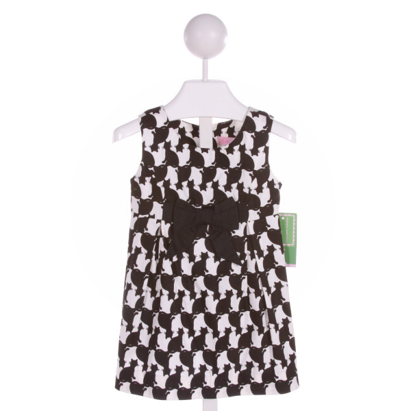 LILLY PULITZER  BLACK  PRINT  DRESS