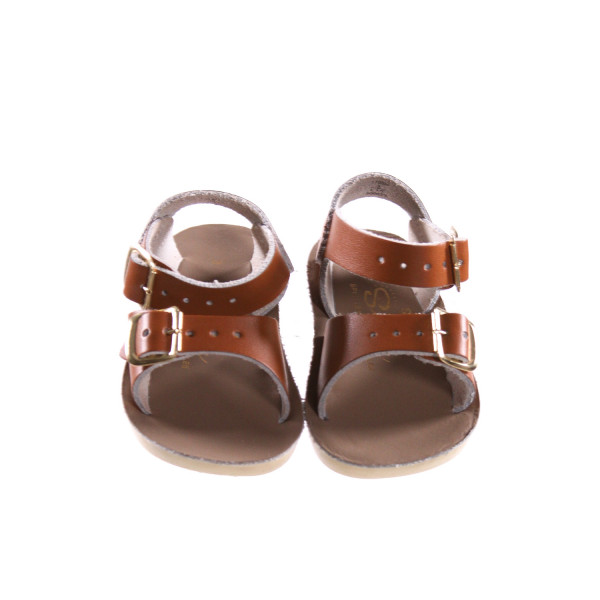BROWN SUN SANS/ SALTWATER SANDALS *SIZE 3, EUC