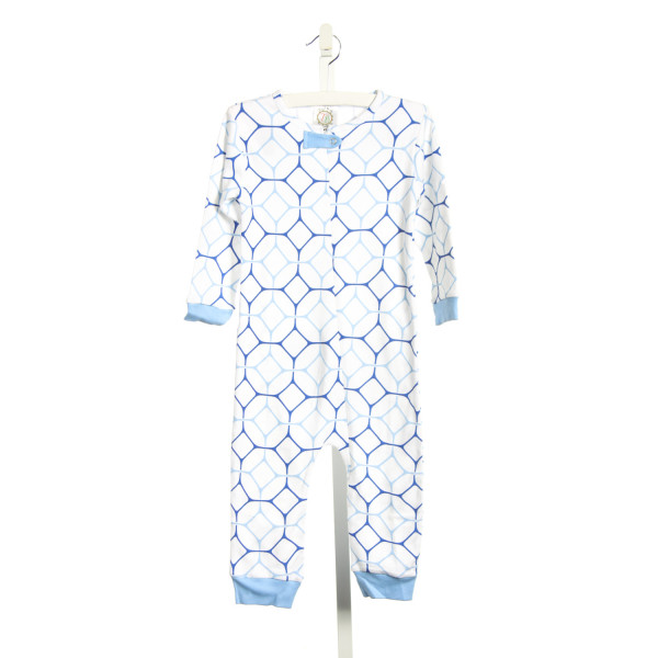 THREAD BLANKS BLUE ZIP-UP KNIT PAJAMAS