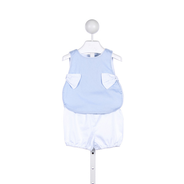 THREAD HEIRLOOM COMPANY BLUE PIQUE AND BLUE BITTY DOT BLOOMER SET *SIZE 0-6M, BUT RUNS SMALL