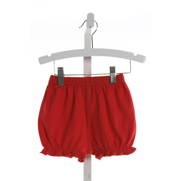 THREAD BLANKS  RED    SHORTS WITH RUFFLE