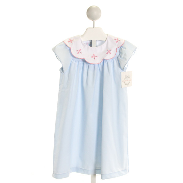 CHARMING MARY  LT BLUE   EMBROIDERED DRESS