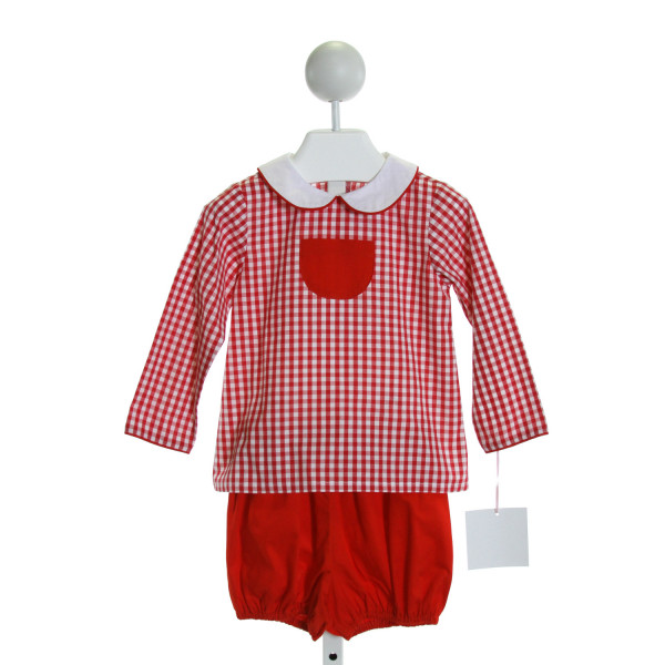 CHARMING MARY  RED  GINGHAM  2-PIECE OUTFIT