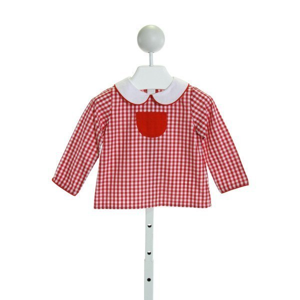 CHARMING MARY  RED  GINGHAM  CLOTH LS SHIRT