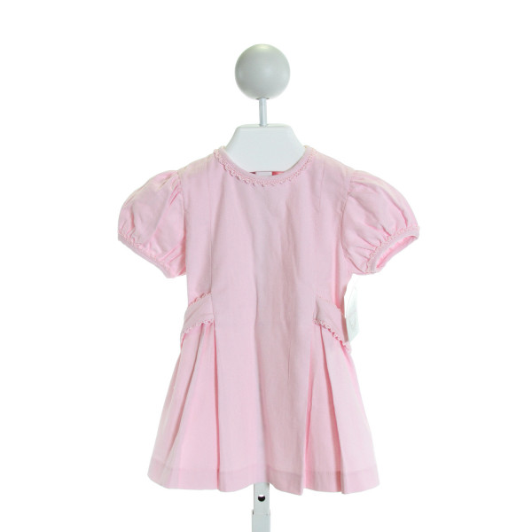 CHARMING MARY  LT PINK CORDUROY  EMBROIDERED DRESS