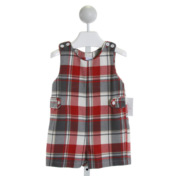 CHARMING MARY  RED  PLAID  JOHN JOHN/ SHORTALL