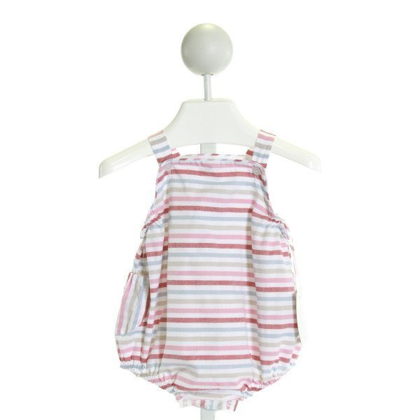 CHARMING MARY  PINK STRIPED BUBBLE WITH RUFFLE