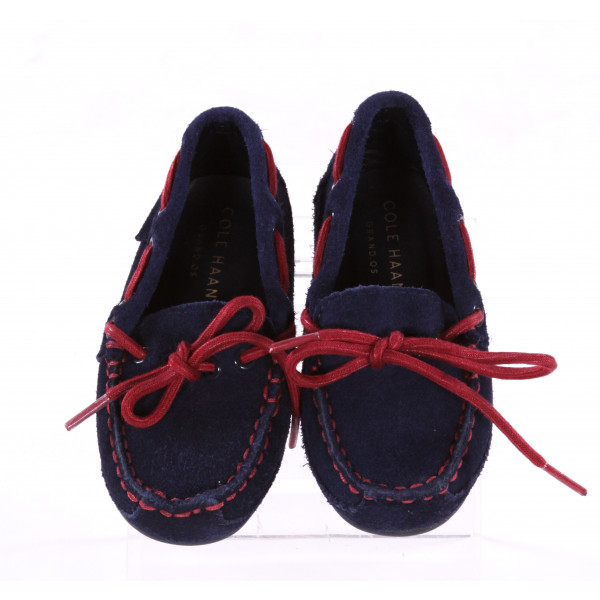 COLE HAAN NAVY BLUE AND RED LOAFERS *SIZE 8, VGU - SOME SCUFFING