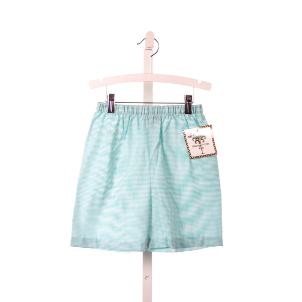 SHRIMP & GRITS AQUA GINGHAM SHORTS